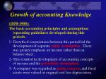 growth of accounting knowledge1