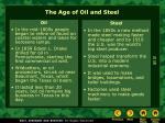 the age of oil and steel