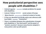 how postcolonial perspective sees people with disabilities