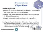 drivers and trends objectives