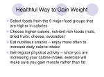 healthful way to gain weight