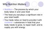 why nutrition matters