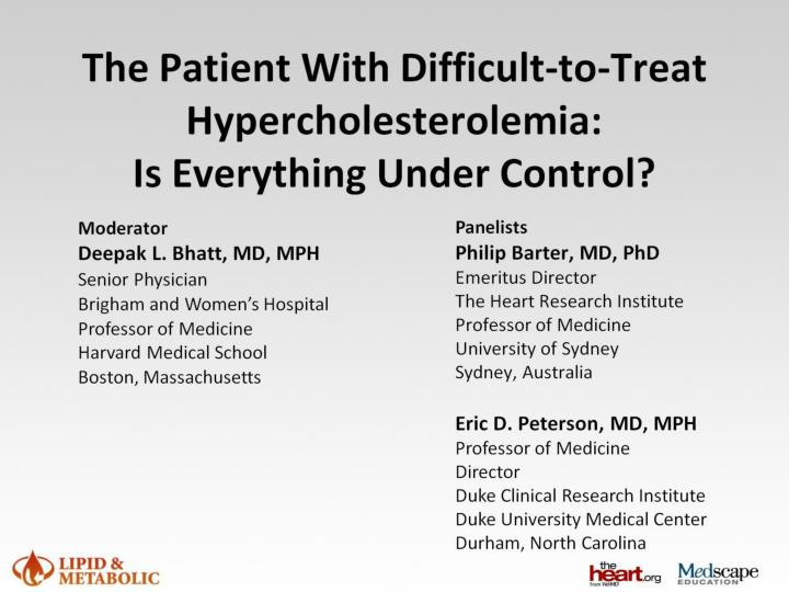 the patient with difficult to treat hypercholesterolemia is everything under control n.