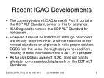 recent icao developments