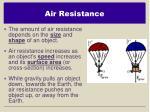 air resistance1