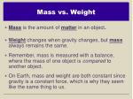 mass vs weight1