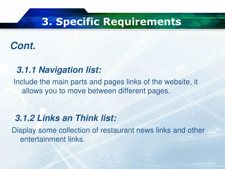 3. Specific Requirements