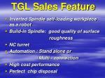 tgl sales feature