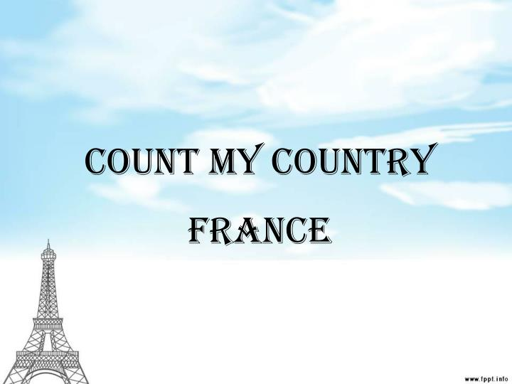 count my country n.
