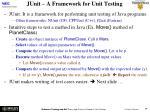 junit a framework for unit testing