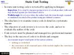 static unit testing