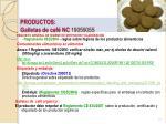 productos galletas de caf nc 19059055
