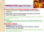 productos jugos de frutas