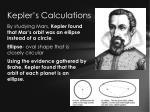 kepler s calculations