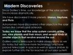 modern discoveries