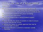 what is the role of a school social worker