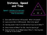 distance speed and time