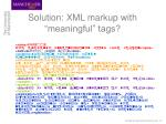 solution xml markup with meaningful tags