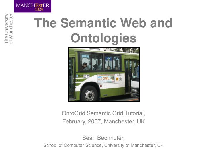the semantic web and ontologies n.