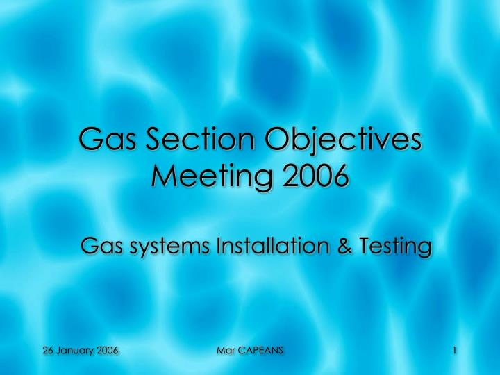 gas section objectives meeting 2006 n.