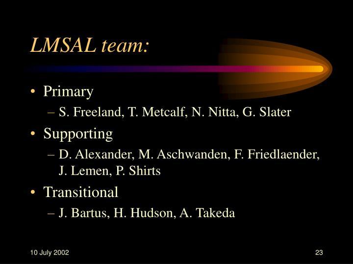 LMSAL team:
