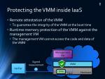 protecting the vmm inside iaas
