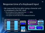 response time of a keyboard input