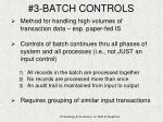 3 batch controls