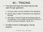 3 tracing