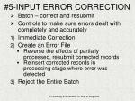 5 input error correction