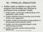 5 parallel simulation