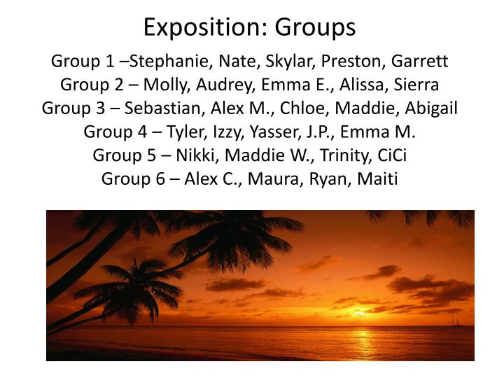 Exposition: Groups