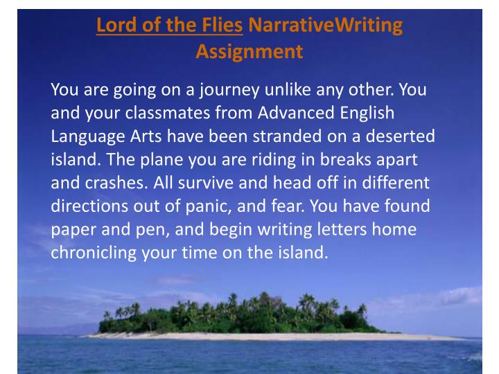 Lord of the flies n arrativewriting assignment