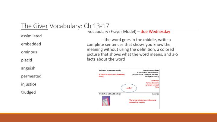 the giver vocabulary ch 13 17 n.