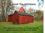 1 read the sentence