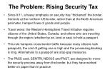 the problem rising security tax
