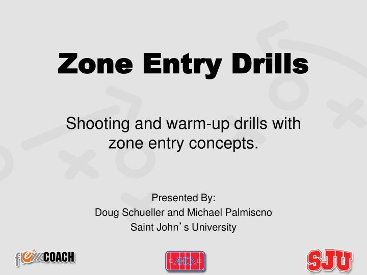 zone entry drills shooting and warm up drills with zone entry concepts n.