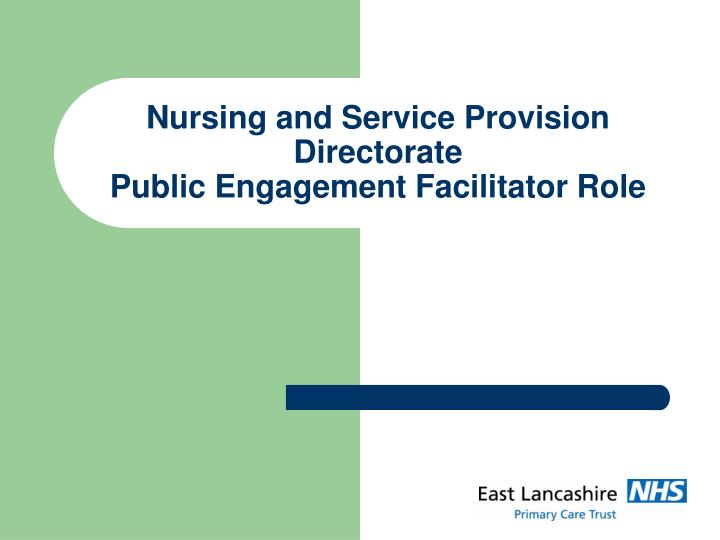explain the effect of own role in on service provision Explain the effect of own role on service provision int the health care profession understand the range of service provision and roles within health and social care (adults and children and young people) early years and child care11 - identify the range of service provision for health and social care (adults and children and young people) early years and childcare in own local area.