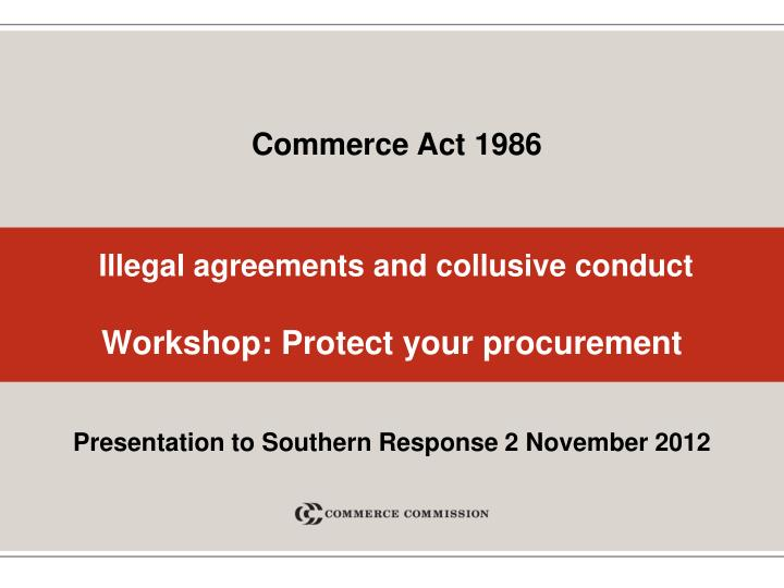 illegal agreements and collusive conduct workshop protect your procurement n.