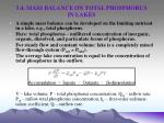 5 4 mass balance on total phosphorus in lakes