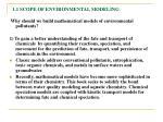1 1 scope of environmental modeling