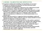 1 3 model calibration and verification