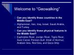 welcome to geowalking