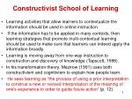 constructivist school of learning1
