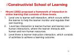 constructivist school of learning11
