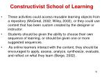 constructivist school of learning14