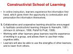 constructivist school of learning5