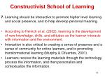 constructivist school of learning8