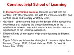 constructivist school of learning9