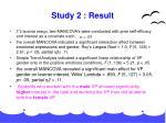 study 2 result